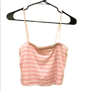 Pink Stripe Crop Top